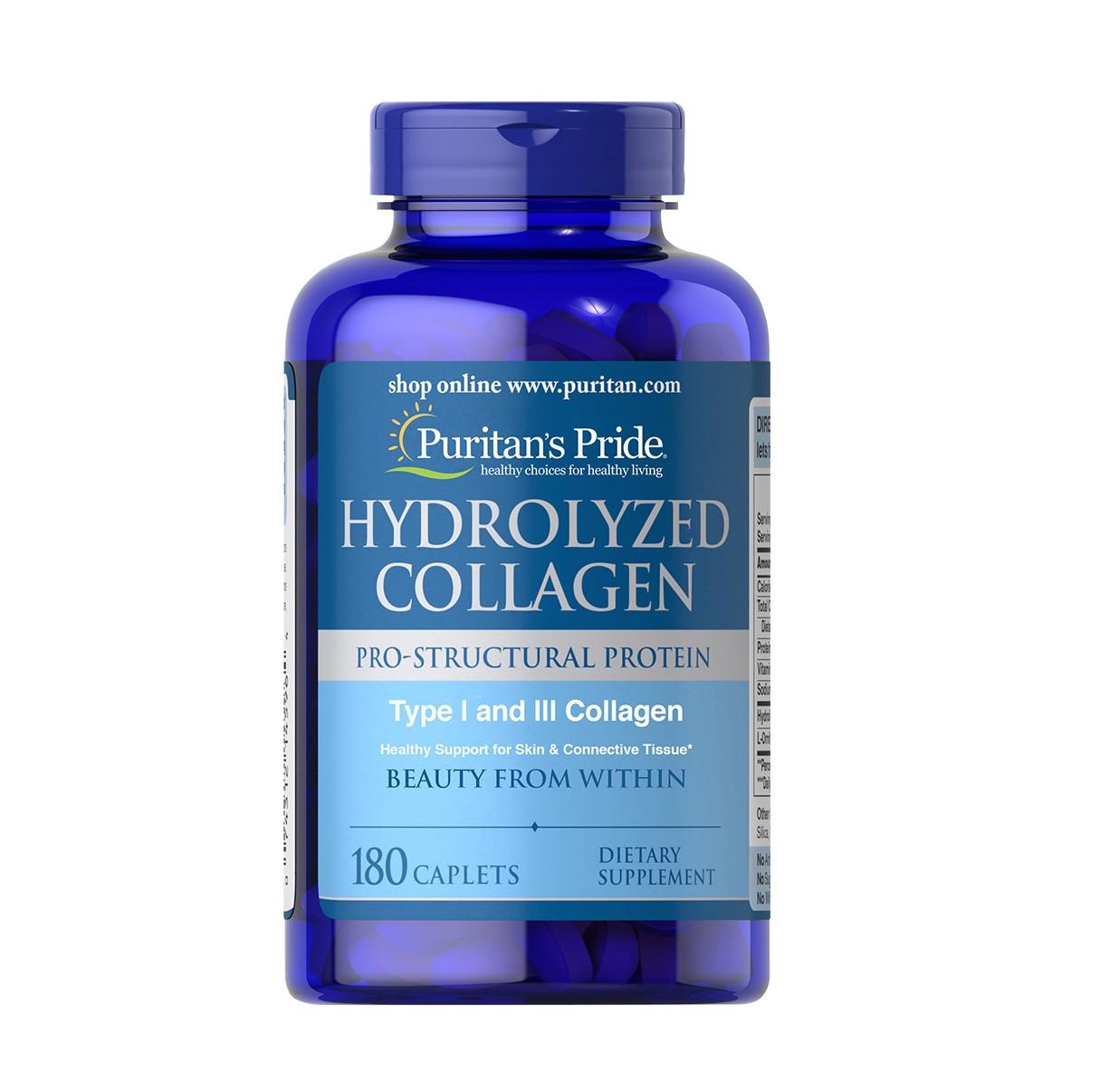 Коллаген гидролизат Puritan`s Pride - Hydrolyzed Collagen (180 таблеток)