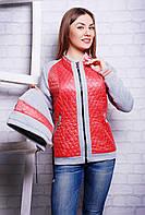 Куртка женская демисезонная коралловая Кристи размеры 40-46