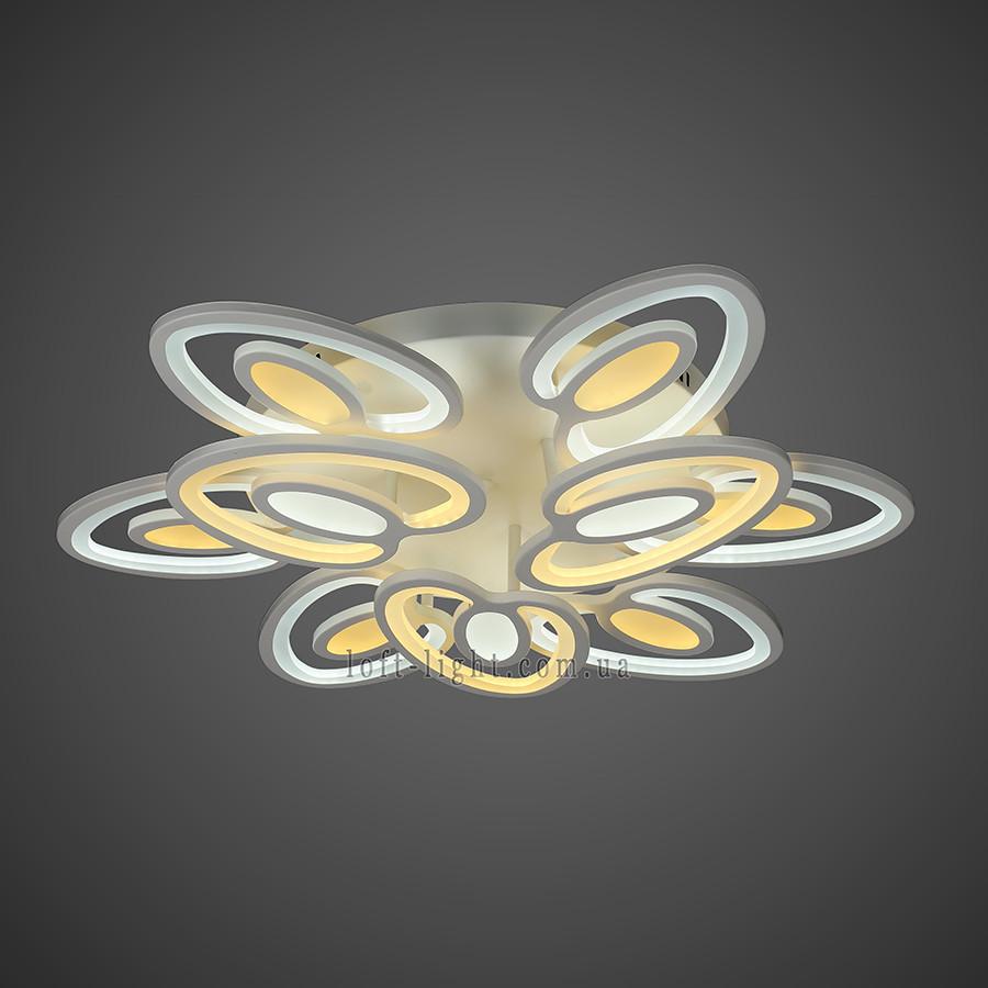 Люстра потолочная светодиодная   55-MX10028-6+3 WH LED
