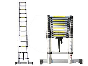 Лестница телескопическая алюминий 3.2 м + стабилизатор