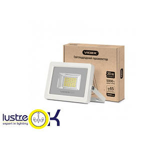 Прожектор LED  20W 5000K 220V белый корпус  VIDEX PREMIUM