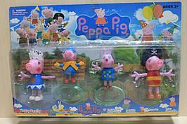 12551 Набор фигурок Свинка Пеппа 4 шт. на листе
