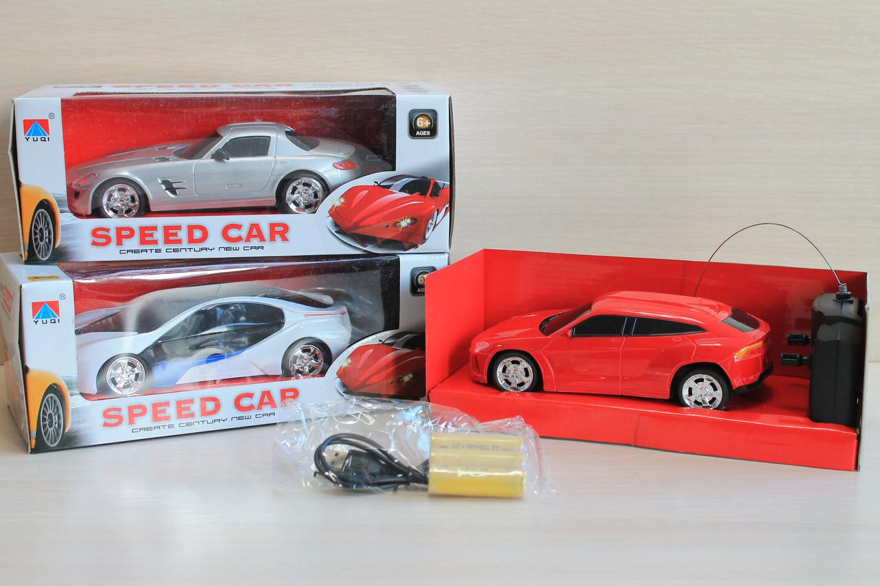 010S-1 Машина на радиоуправлении, аккумуляторы, 19 см, свет, USB зарядное, коробка 25-11-9,5 см