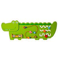 Деревянная игрушка Бизиборд MD 2013 развивающая Крокодил