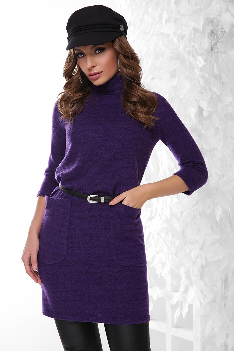 Ангоровое женское платье туника Каиса-2