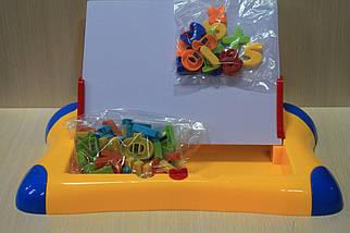 738 Доска магнитная, русские буквы, цифры, маркет, губка, в коробке, фото 3