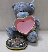 0749-1 Мишка Тедди с коробочкой для подарка, мягкая игрушка подарок тм Сонечко, фото 2