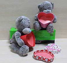 0749-1 Мишка Тедди с коробочкой для подарка, мягкая игрушка подарок тм Сонечко, фото 3