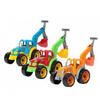 3435 Детская игрушка машинка Трактор с ковшом пластик тм Технок