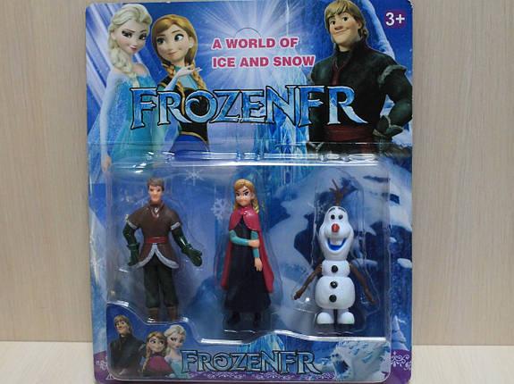 7550 Герои мультфильма Холодное сердце Frozen 3 героя, на планшетке 28*23,5*4,5 см., фото 2