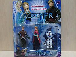 7550 Герои мультфильма Холодное сердце Frozen 3 героя, на планшетке 28*23,5*4,5 см.