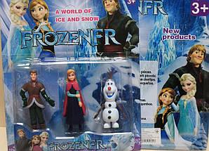 7550 Герои мультфильма Холодное сердце Frozen 3 героя, на планшетке 28*23,5*4,5 см., фото 3
