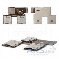 Шлейф для HTC Desire SV T326e с коннектором SIM карты, карты памяти Original