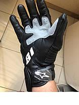 Длинные демисезонные Кожа зам мото перчатки Alpinestars S1, фото 3