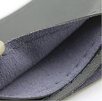 Оплетка чехол на руль, эко кожа, 35-37 см. серая, не перфорированная, cшиваемая