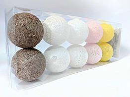 Гирлянды Cotton Balls 10led 6х180 см 4 CB3, КОД: 155222