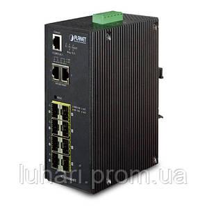 Управляемый промышленный коммутатор Planet IGS-10080MFT (8Port-100/1000X SFP +2-Port 10/100/1000T)