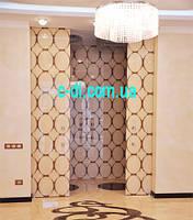 Стеклянные раздвижные двухстворчатые двери c покраской