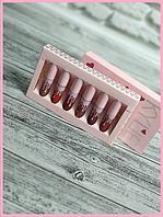 📌 Набор матовых жидких помад Kylie Jenner в розовой  коробке ( набор 6шт)