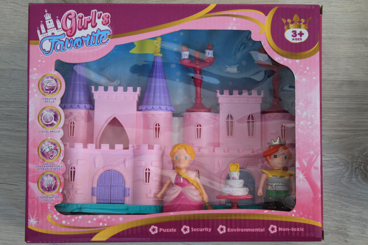2017-2 Замок маленькой принцессы, домик для кукол коробка 11-11-18см