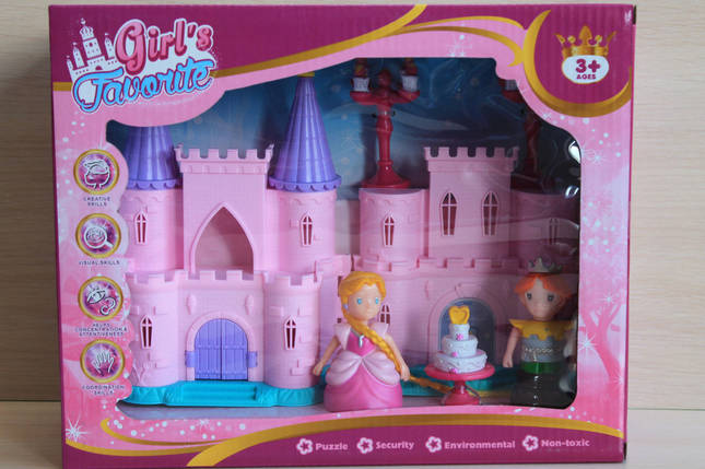 2017-2 Замок маленькой принцессы, домик для кукол коробка 11-11-18см, фото 2