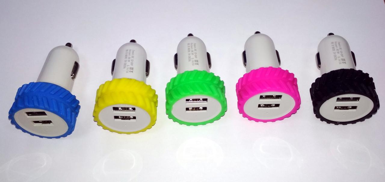Автомобильное зарядное устройство USB для телефона в виде шины на 2 порта
