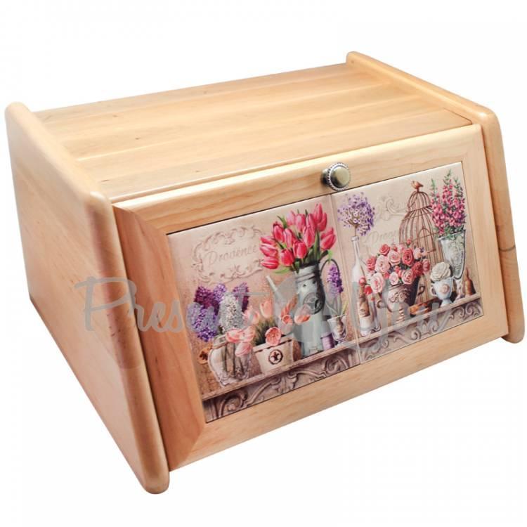 Хлебница «Прованс. Тюльпаны, розы», 41х22х21,5, 15х30 см (262-0006M)
