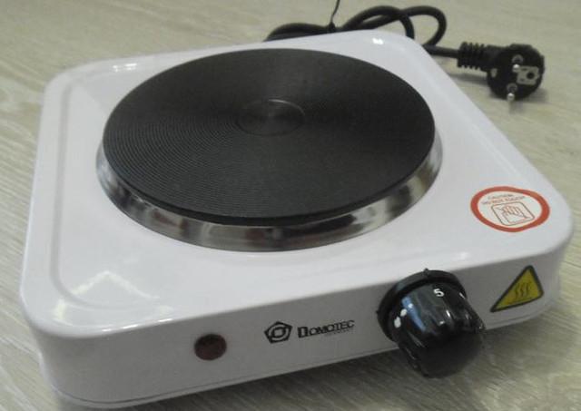 Електроплита дискова Domotec HP-100 А, електроплита 1 конфорочна настольнаяCG12