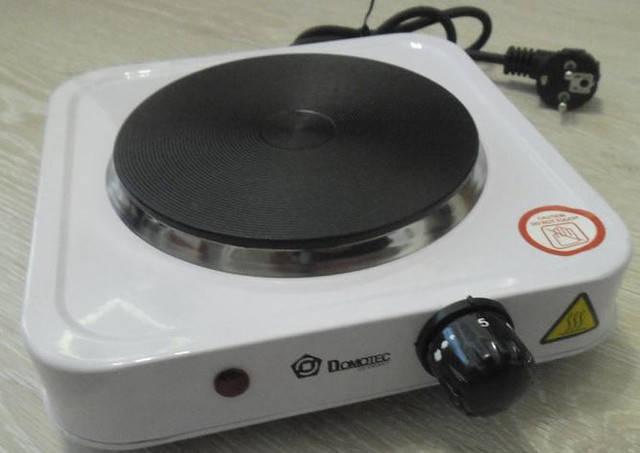 Електроплита дискова Domotec HP-100 А, електроплита 1 конфорочна настольнаяCG12, фото 2