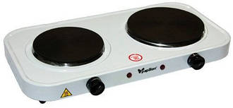 Електроплита дискова Domotec HP-200 A-1, плита 2-конфорочна электрическаяCG12