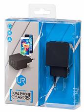 Сетевое зарядное устройство Trust Urban Dual Smart Wall Charger Black, фото 3