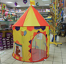 040/44 Детская палатка Клоун в цирке упаковка сумка размер 130*100*100 см, фото 2