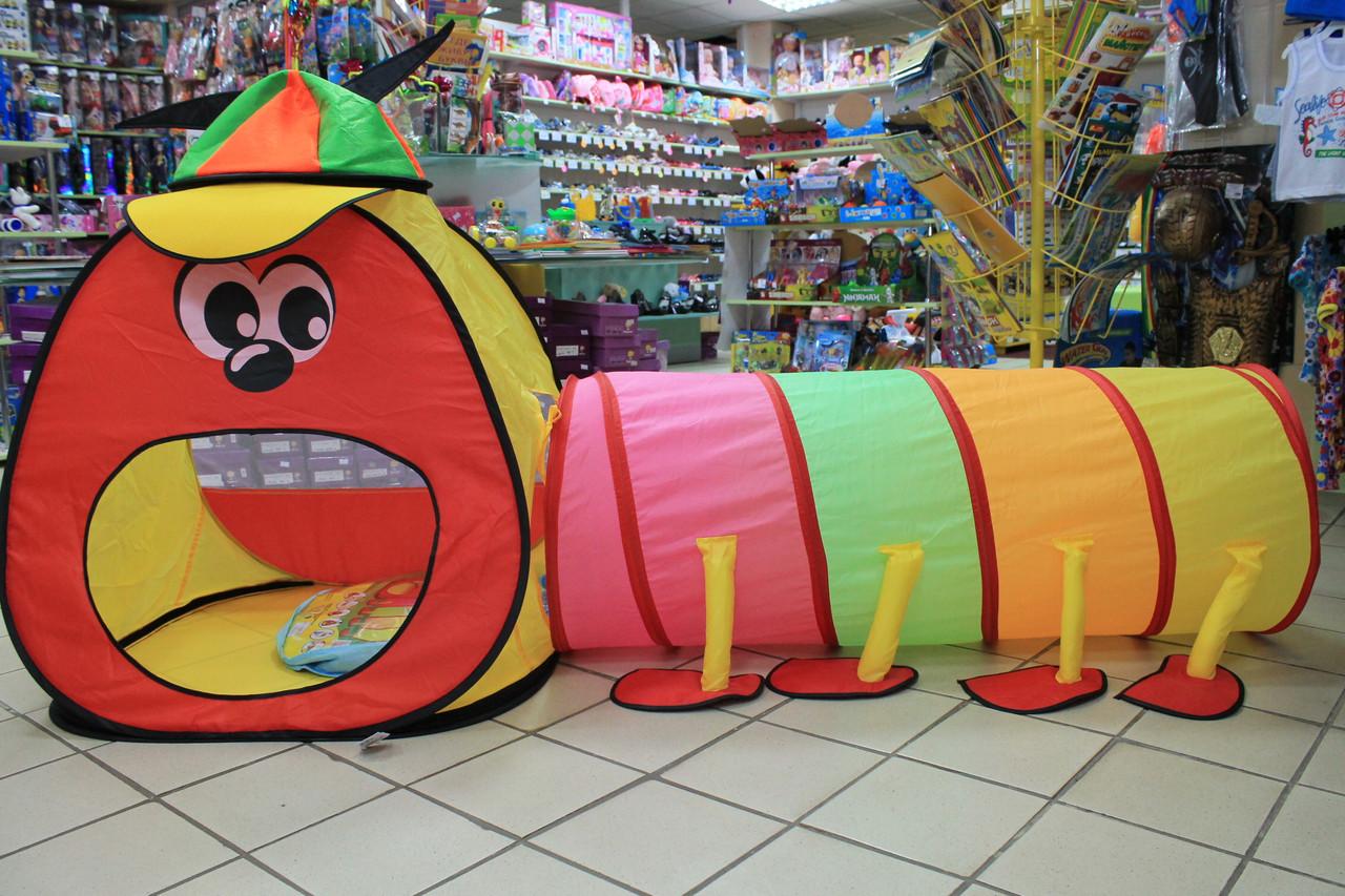 889-172B Детская палатка Домик с тоннелем размер 175*100*75 см