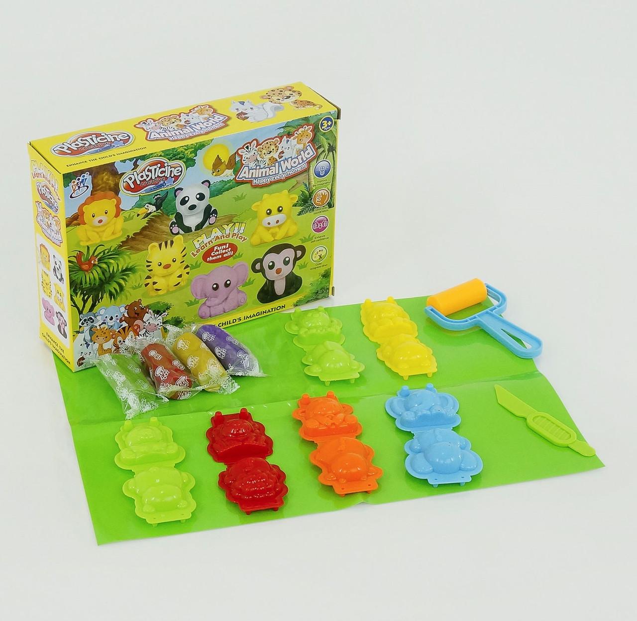 1304 А Тесто для лепки, набор для творчества Зоопарк, в коробке 24*6*18 см