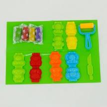 1304 А Тесто для лепки, набор для творчества Зоопарк, в коробке 24*6*18 см, фото 2