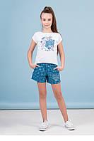 Комплект дівч. (футболка+шорти) Зіронька 64-8013-2, 122 блакитний
