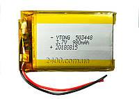 Аккумулятор 980 мАч 503448 3,7в для видеорегистратора, сигнализации, наушников, Bluetooth (980mAh)