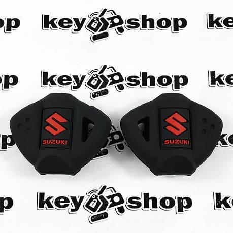 Чохол (чорний, силіконовий) для мото ключа Suzuki (Сузукі), фото 2