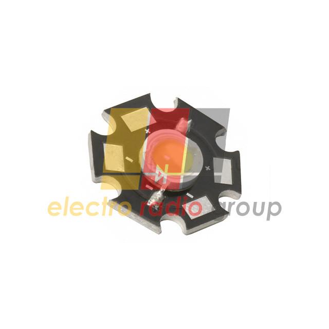 Светодиод SMD мощный 1W белый  (эконом вариант) с радиатором