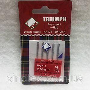 Иглы для бытовых швейных машин TRIUMPH New 130/705H Универсальные №70 (уп.5шт)