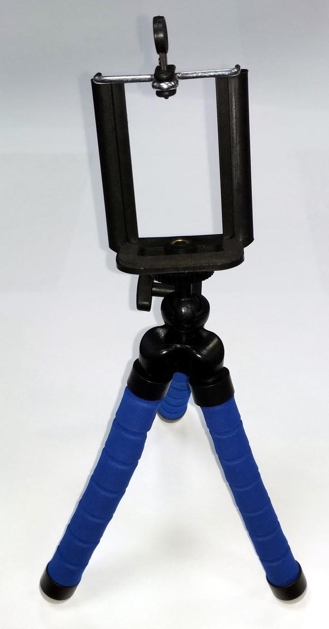 Трипод, тринога, штатив для телефона цвет синий