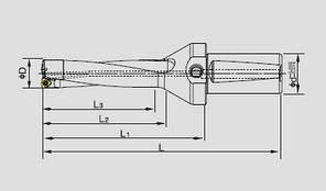 WC20-60-C25-3D Сверло с механическим креплением твердосплавной пластины 03, фото 2