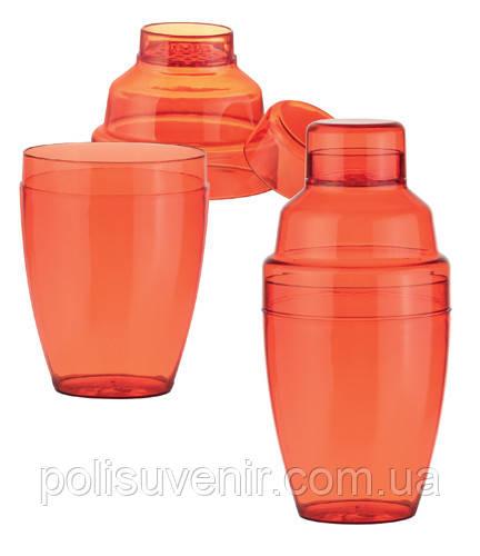 Шейкер для коктейлей цветной пластик