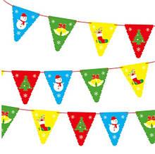 Новорічна гірлянда - червона нитка 2,8-3м і 8 деталей 28*20см, картон