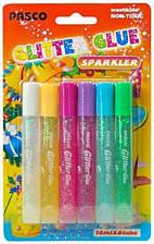 Клей-краски с блеском color sparkler, 6 шт*10 мл, F-019-08, Pasco, 330113