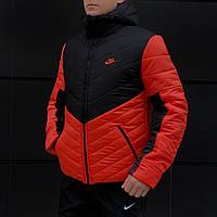 Куртка мужская зимняя / до - 25* / черный + оранжевый