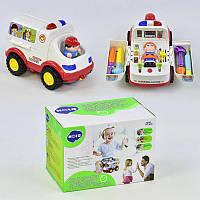 836 Скорая помощь музыкальная игрушка на батарейках в коробке для детей 3 +