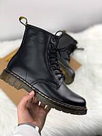 Ботинки женские зимние Dr. Martens 1460 8-Eye Boot Black Smooth Black - Черные