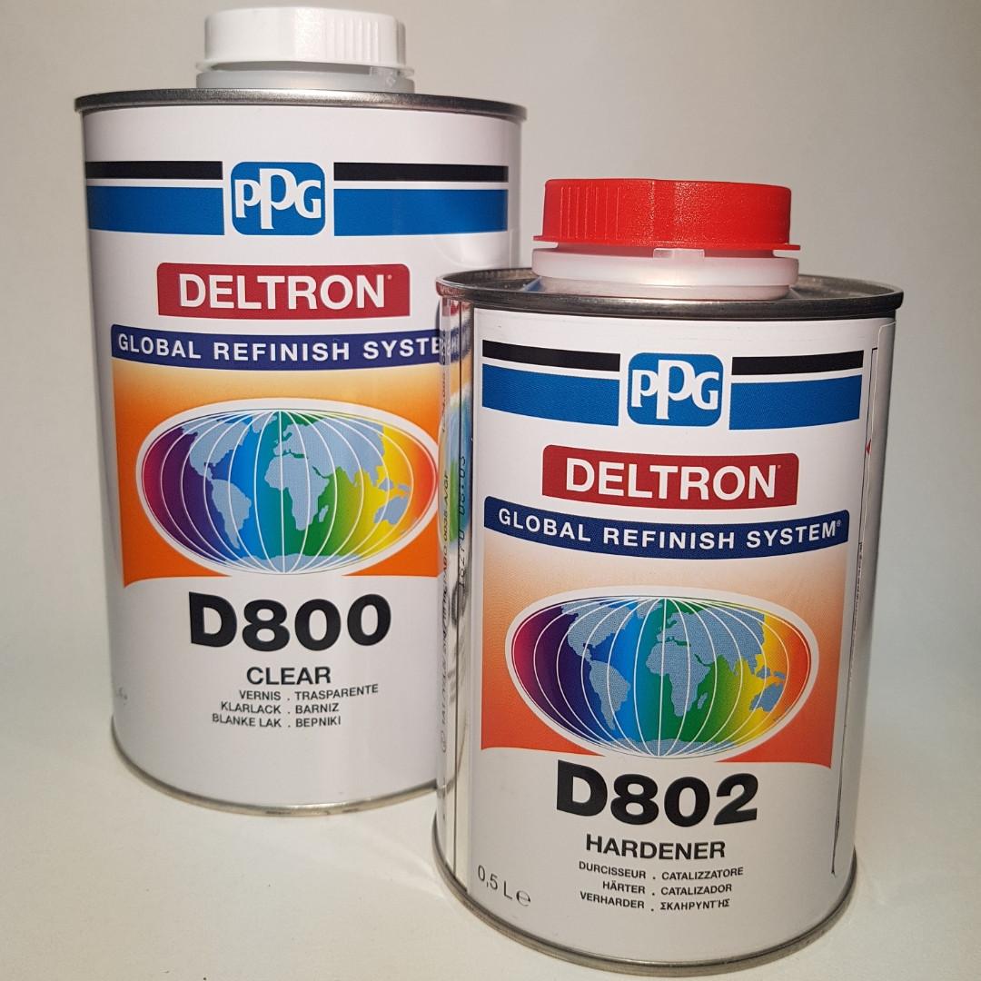 Лак deltron Ppg d800 (к-т) 1л