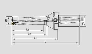 WC34-136-C32-4D Сверло с механическим крепление твердосплавной пластины 06, фото 2